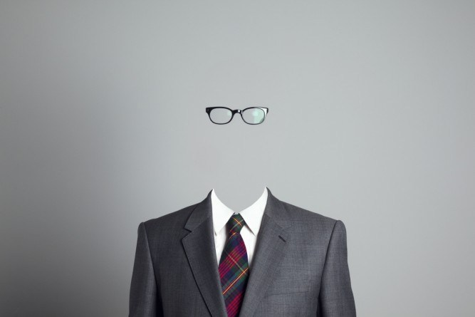 Invisible body with clothes and glasses